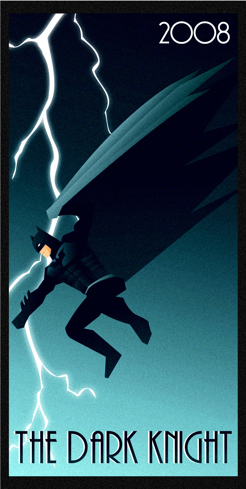 THE DARK KNIGHT art deco by rodolforever