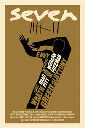 SE7EN movie poster by rodolforever
