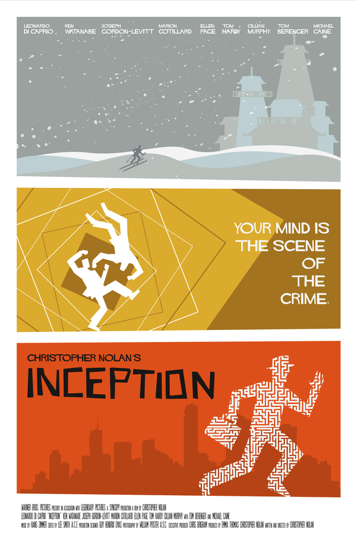 INCEPTION poster theatrical by rodolforever