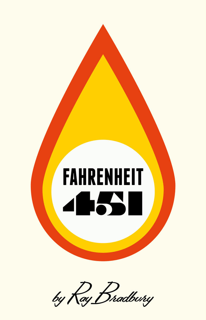 Farenheit 451 book cover by rodolforever