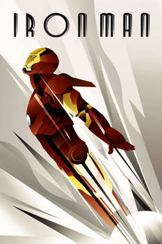 IronMan  Art deco Poster