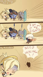 Life as a Mercy  player by Mckodem