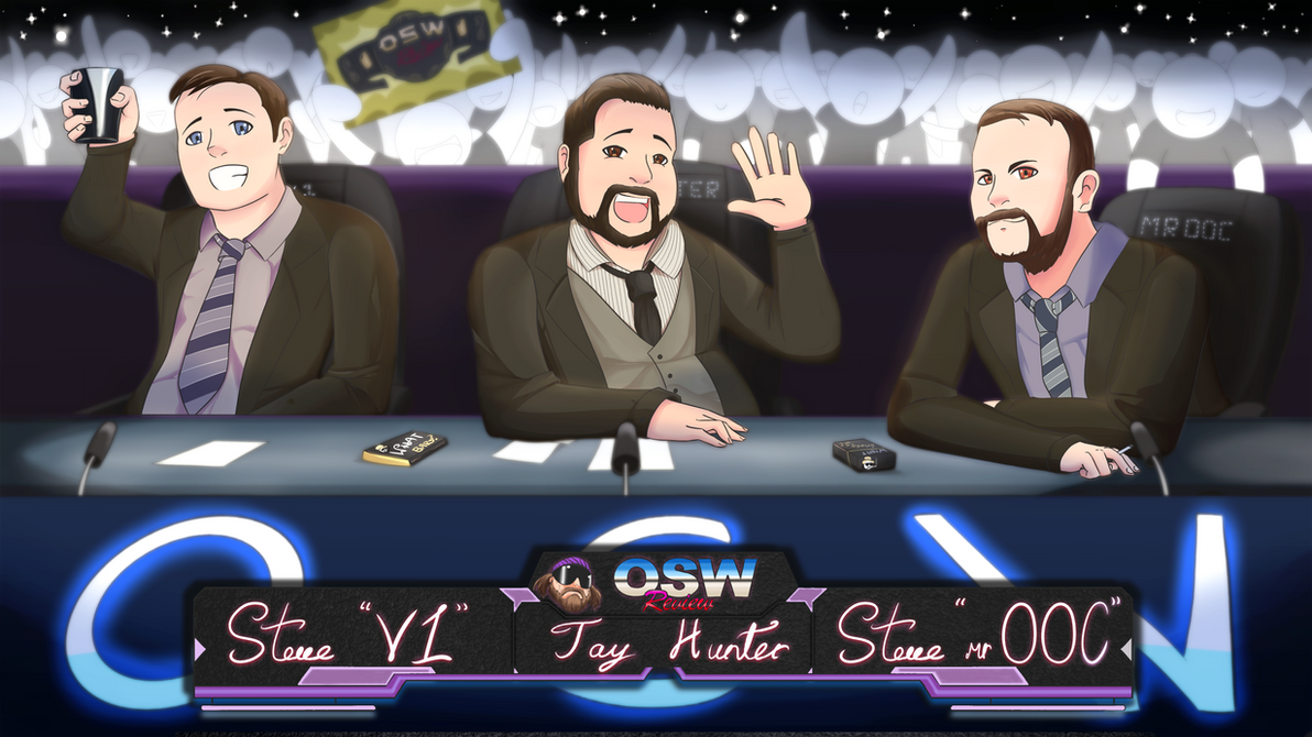 OSW Review artwork: 3 commentators by Mckodem
