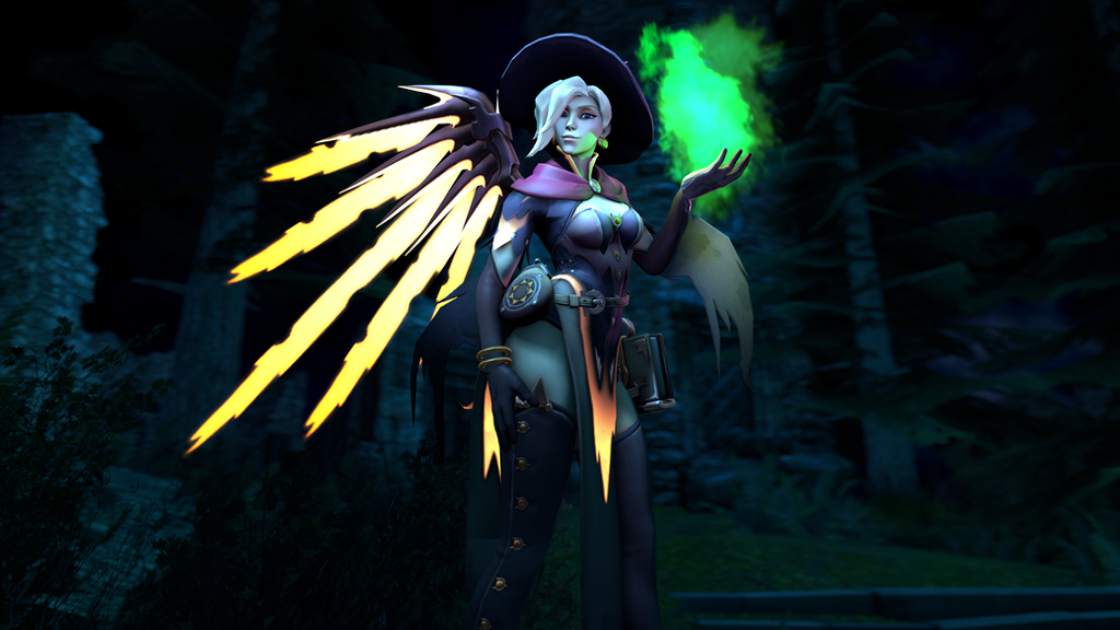 Witch Mercy [SFM Poster] by Rockon12709