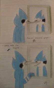 En el espejo.