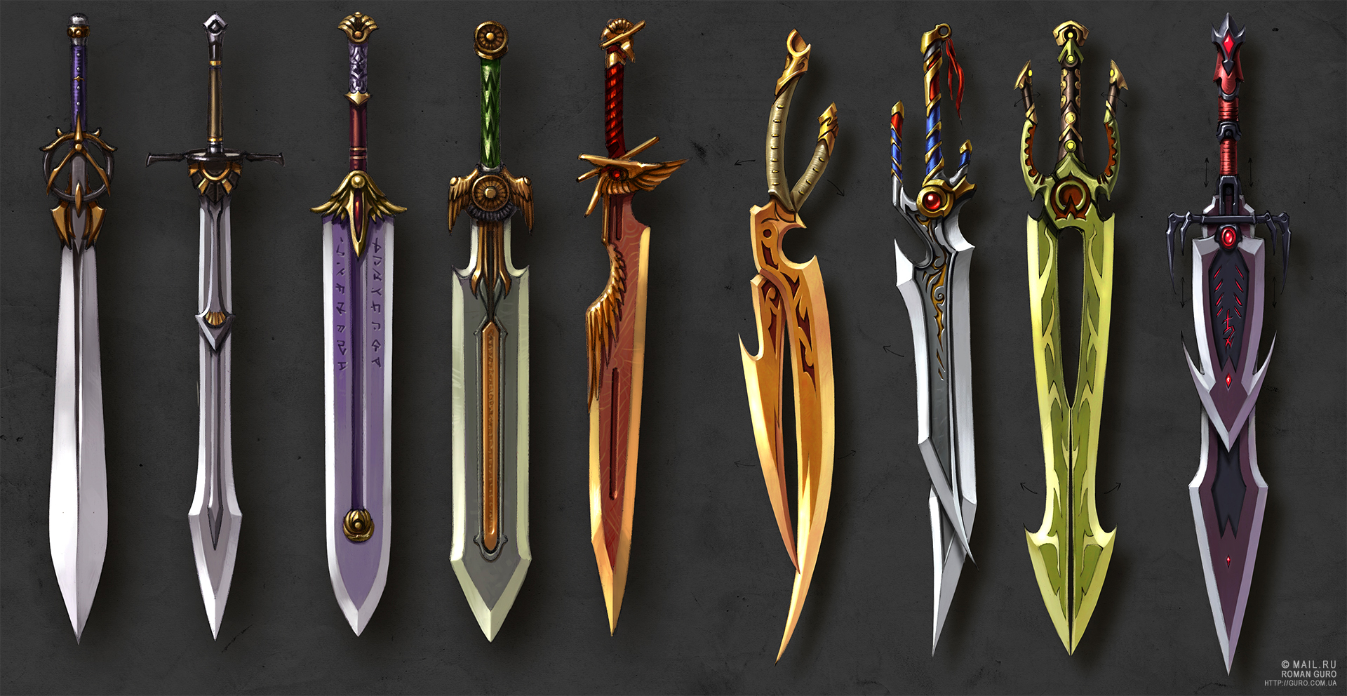 Two-handed swords and Scissors-swords concept by Guro on DeviantArt