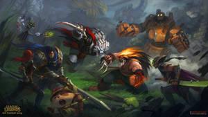 Epic Battle League of Legends funart!