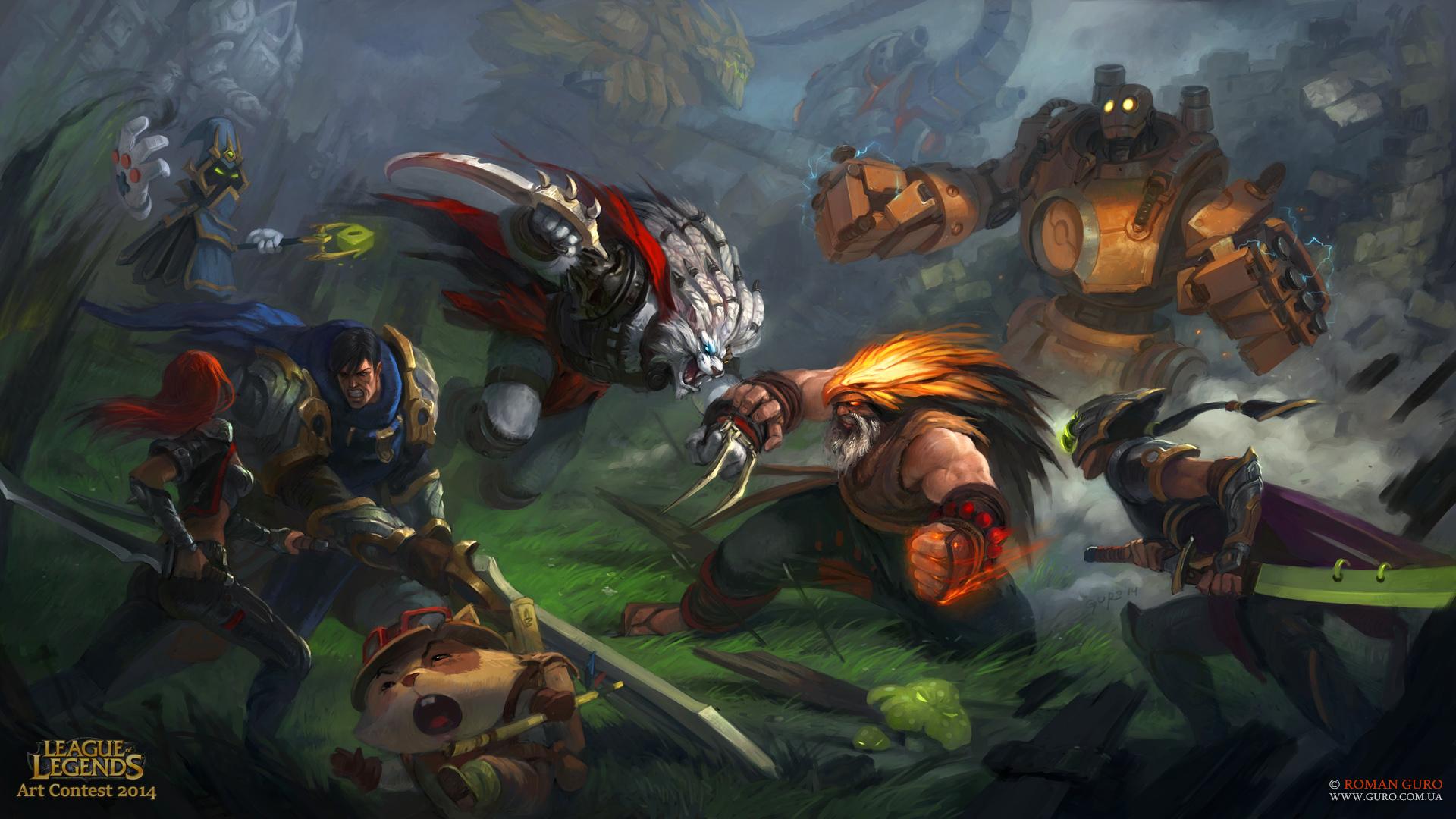 Epic Battle League of Legends funart! by Guro