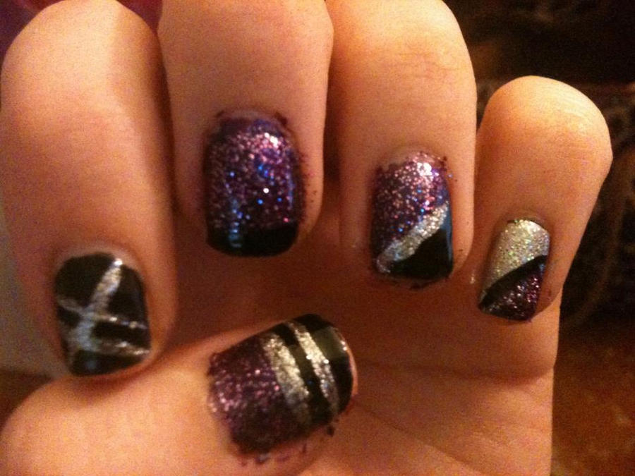 Pictures Of Dark Purple And Silver Nails Kidskunst Info