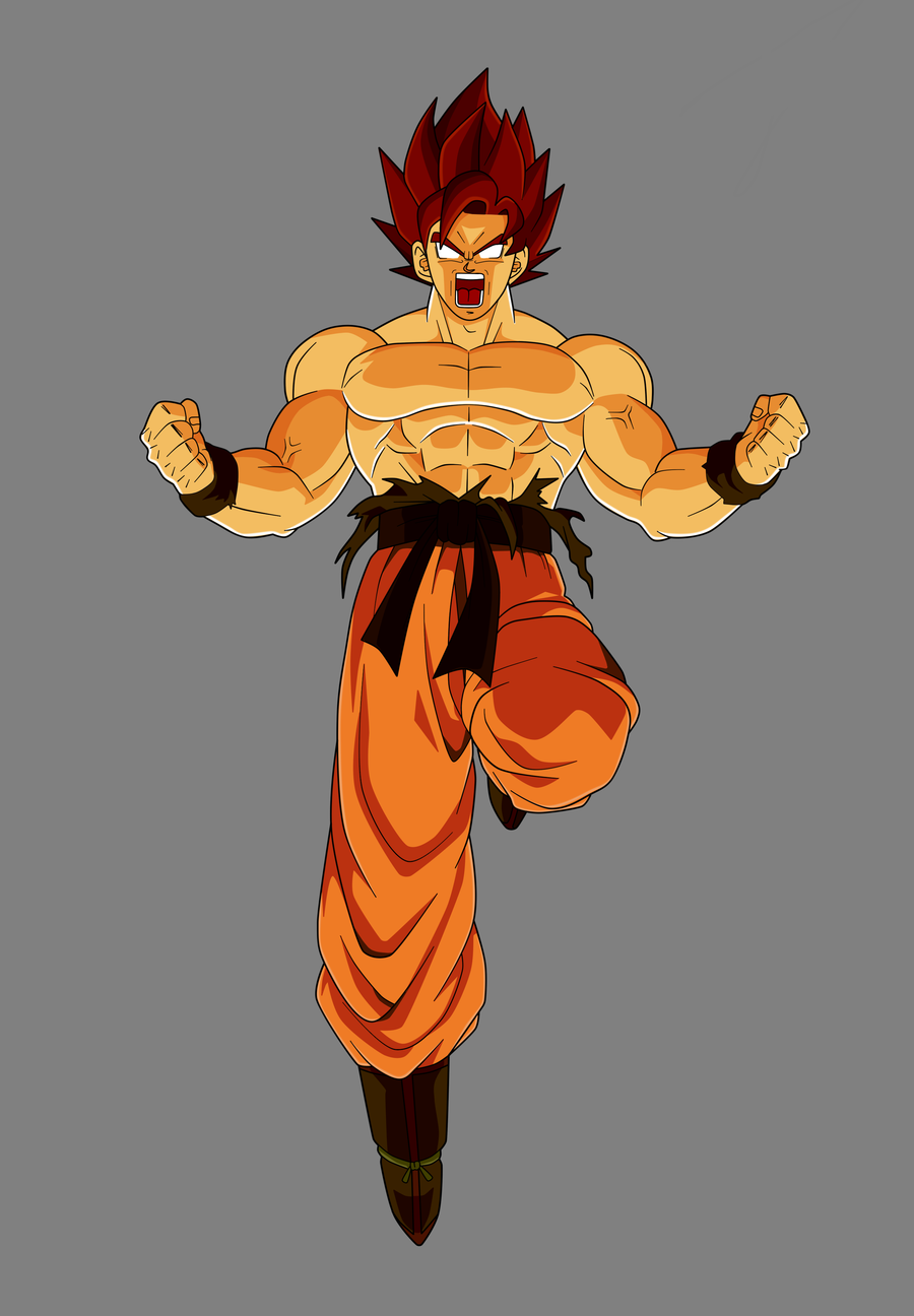 Goku False SSJ by qbbaby on DeviantArt