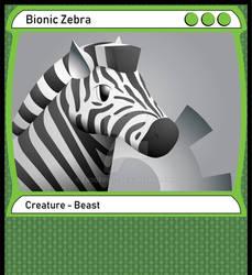 Bionic Zebra: MTG Card