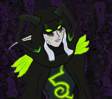 [Fan Art] 'Druid' of the Illidari by Thaeavoira