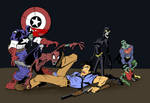 Zombie Heroes coloured by Me
