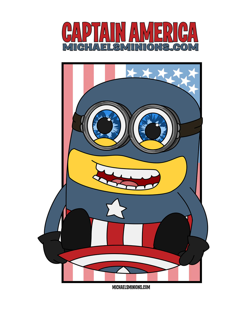 Minion Captain America Amigurumi : CAPTAIN AMERICA MINION by MacLPirata on DeviantArt