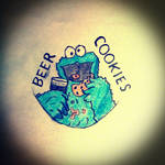 Cookie Monster: Beer and Cookies by MapacheMuerde