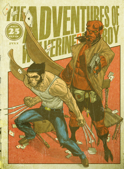 Wolverine and Hellboy Digest by MattKaufenberg