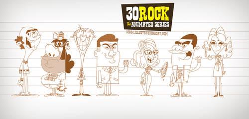 30 Rock Sketches by MattKaufenberg