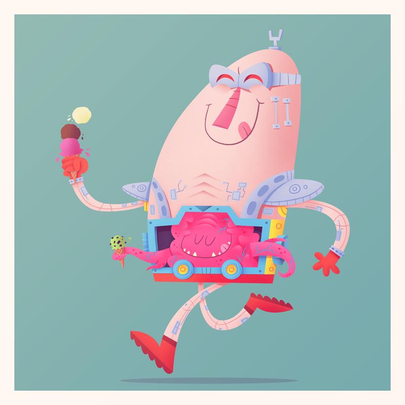 Krang Loves Ice Cream by MattKaufenberg