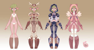 WoW Elf Designs by MeoMai