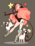 CatStar and her Ghost Cats