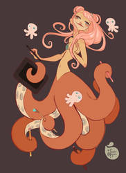 Tentacle Art Lady by MeoMai