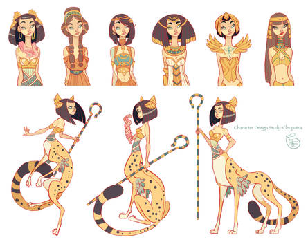 Character Design: Cleopatra Character Study
