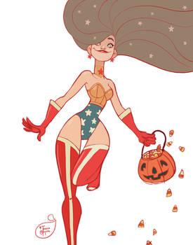 Halloween Character Design - Wonder Woman
