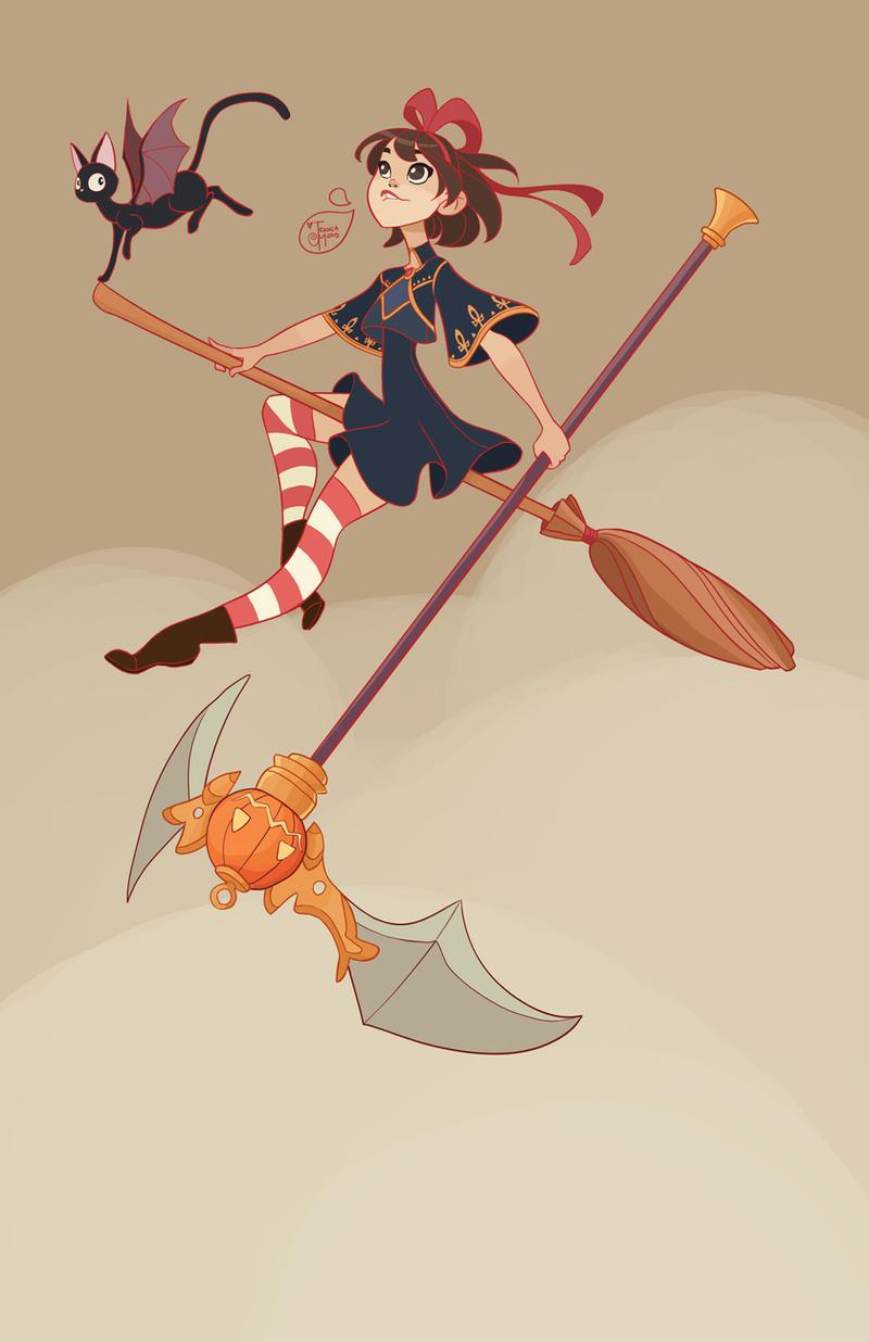 Halloween Character Design Challenge : Halloween character design kiki and jiji by meomai on
