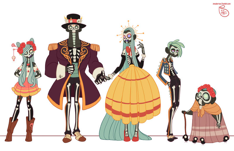 The Character Design : Character design day of the dead family by meomai on