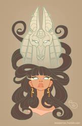Commission - Aisha and Anubis