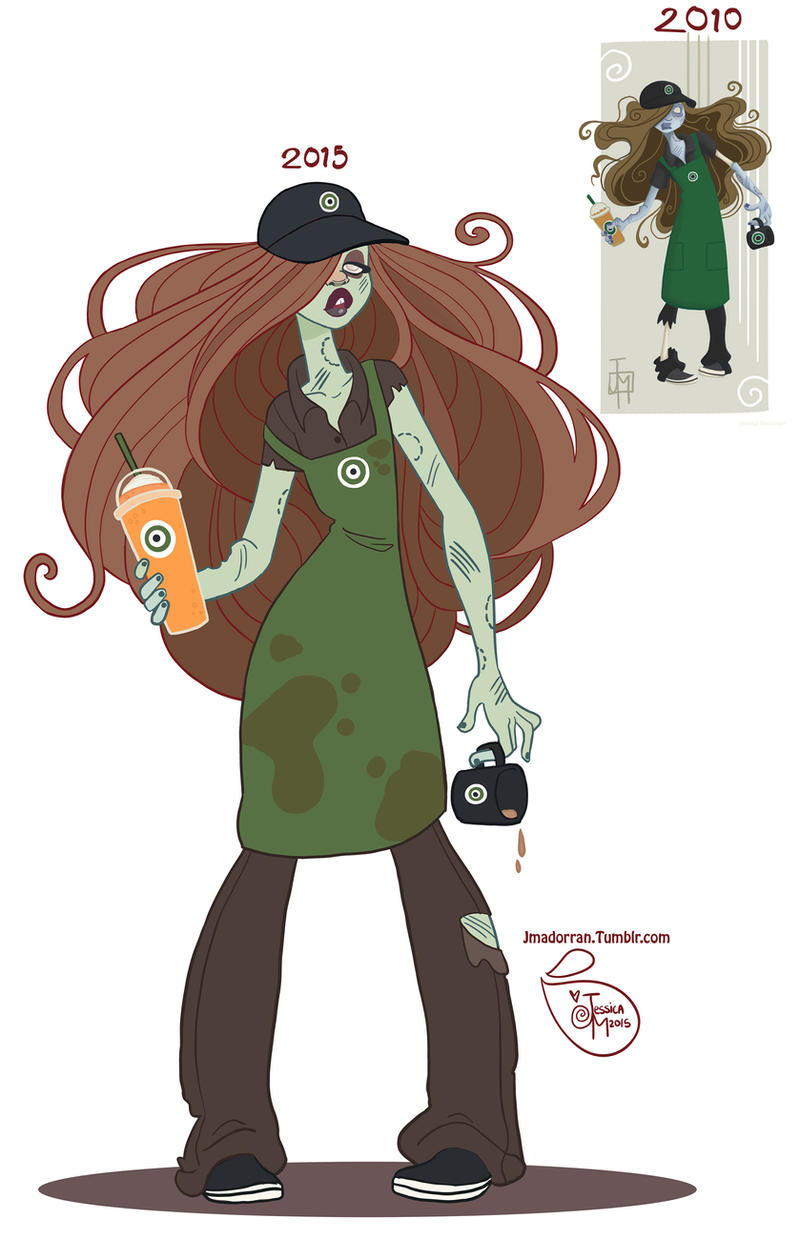 Character Design Zombie : Character design zombie barista by meomai on deviantart