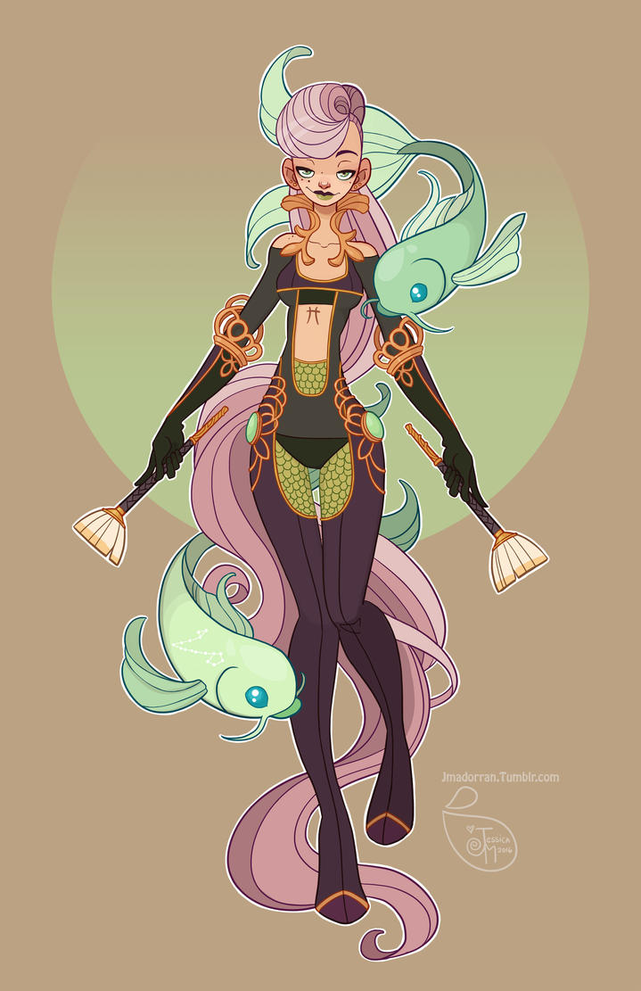 Character Design Tips Disney : Character design pisces by meomai on deviantart
