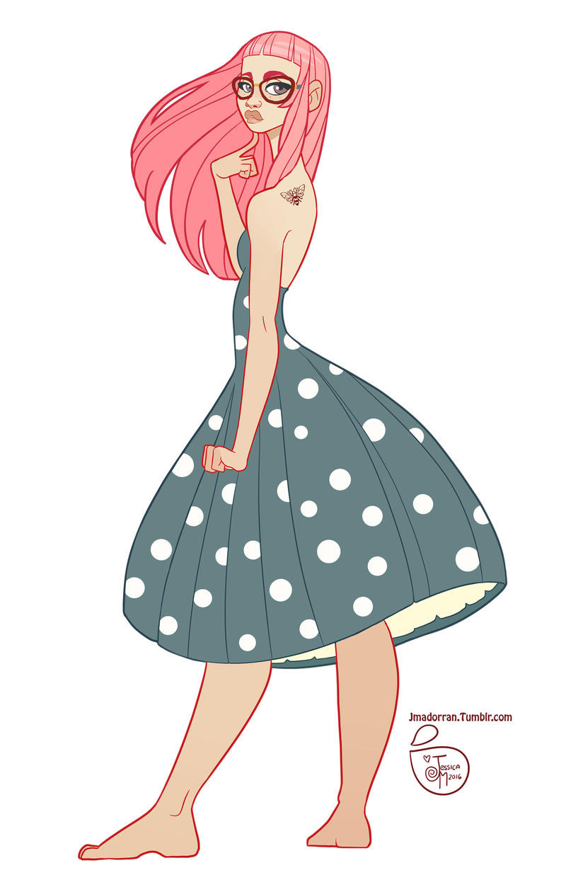 Character Design Hair : Character design pink hair by meomai on deviantart