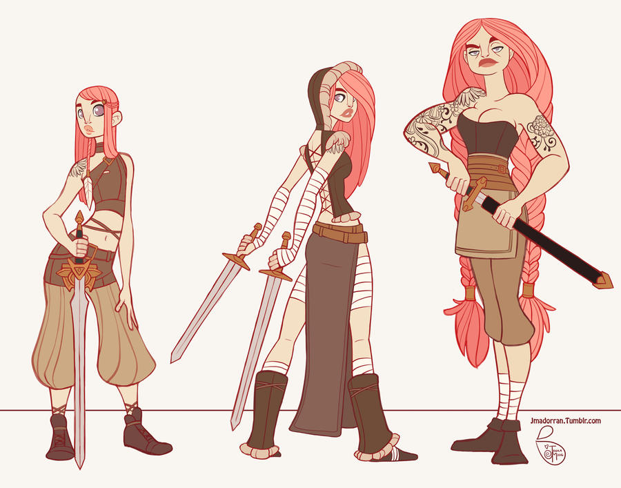 The Character Design : Character design clara the sword viking by meomai on