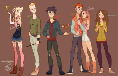Harry Potter Crew Fan Art by MeoMai