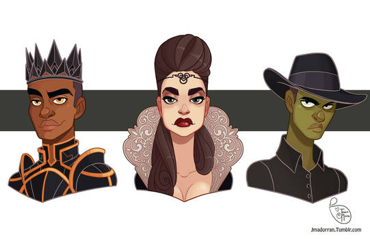 Commission - Evil Queen and her Sons