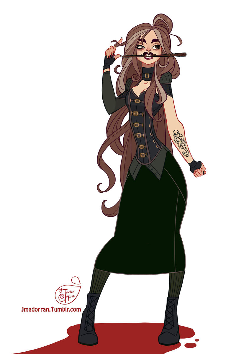 Character Design Challenge List : Character design challenge bellatrix lestrange by meomai