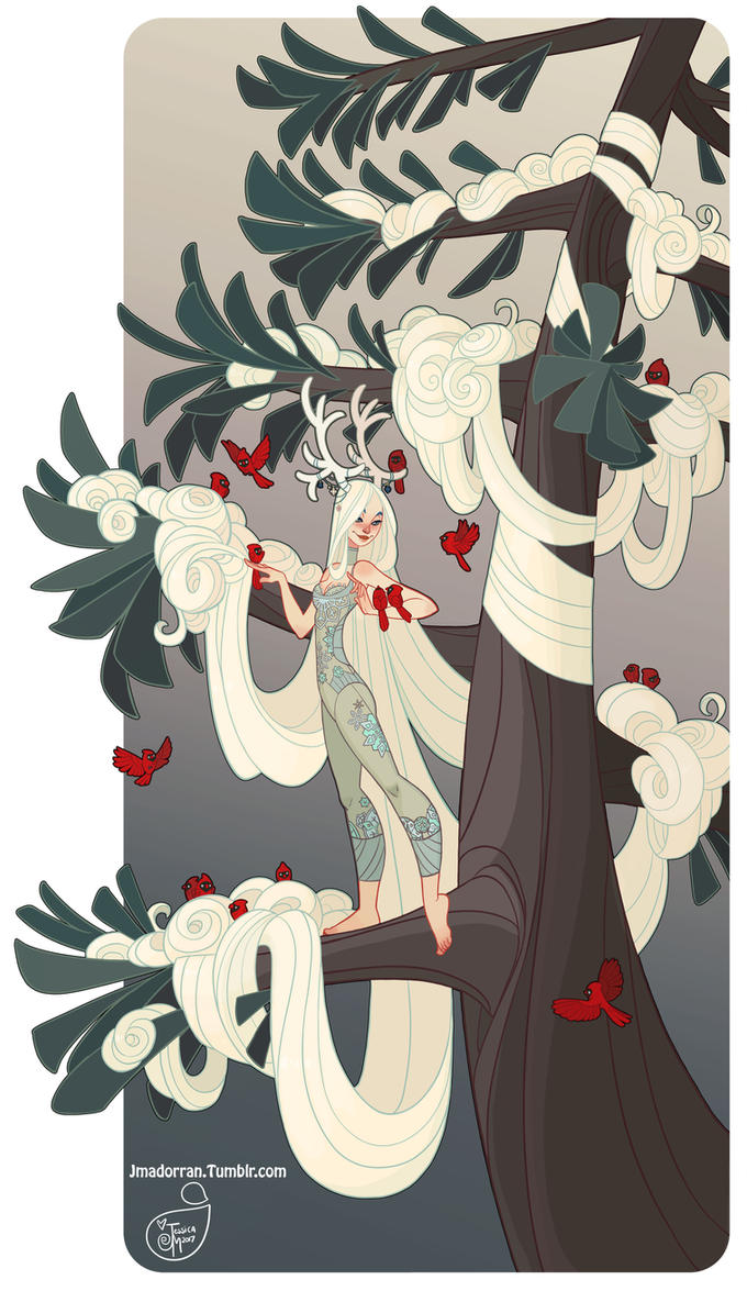 Character Design - Winter Tree Lady by MeoMai