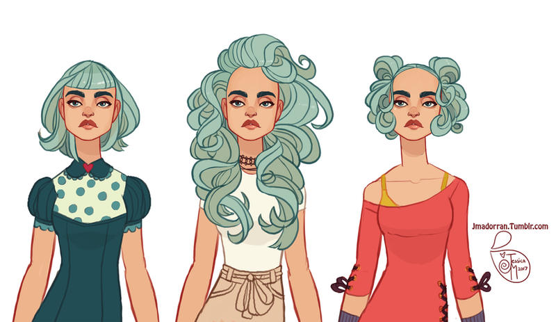 Character-Design Hair-01 2017 by MeoMai