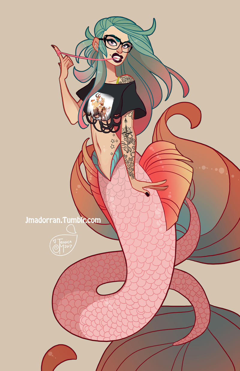 Character Design - ECCC 2017 Mermaid
