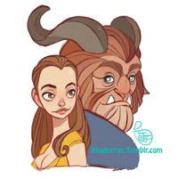 Fan Art - Beauty and the Beast Sketch