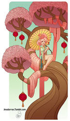 Character Design - Cherry Blossom Tree Lady