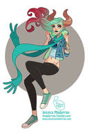 Commission - Hipster Girl by MeoMai
