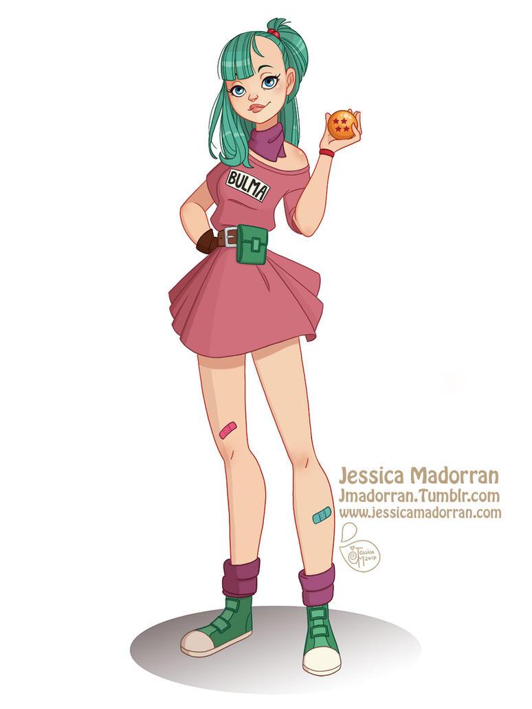 Character Design Dragon Ball Z : Character design challenge bulma by meomai on deviantart