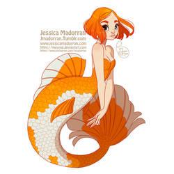 MerMay Day 03 - Goldfish Mermaid by MeoMai