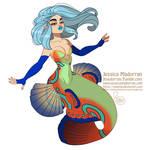 MerMay Day 17 - Mandarinfish Mermaid :)