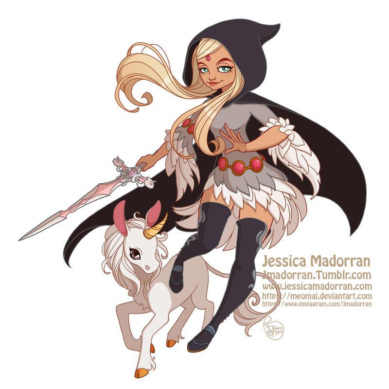 Commission - Narshe and Unicorn by MeoMai