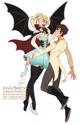 Drawlloween - Vampire Queen Cinderella by MeoMai