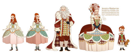 Character Design - Santa Family by MeoMai
