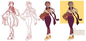 Character Design - Winter Casual Look